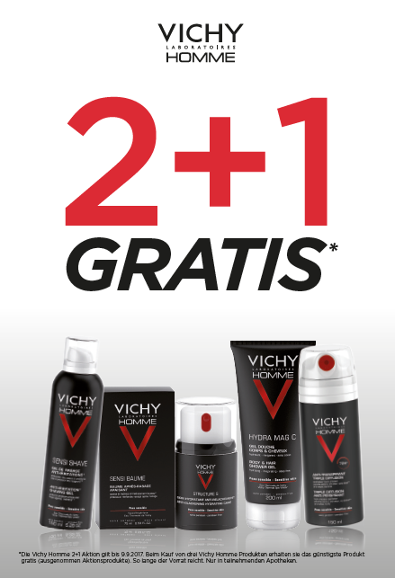 Vichy Homme 2+1 Aktion